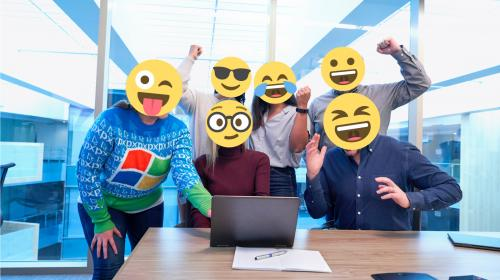 Office workers are happy that they can use emojis in Windows 10.